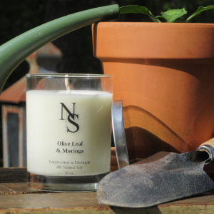 Olive Leaf & Moringa Candle