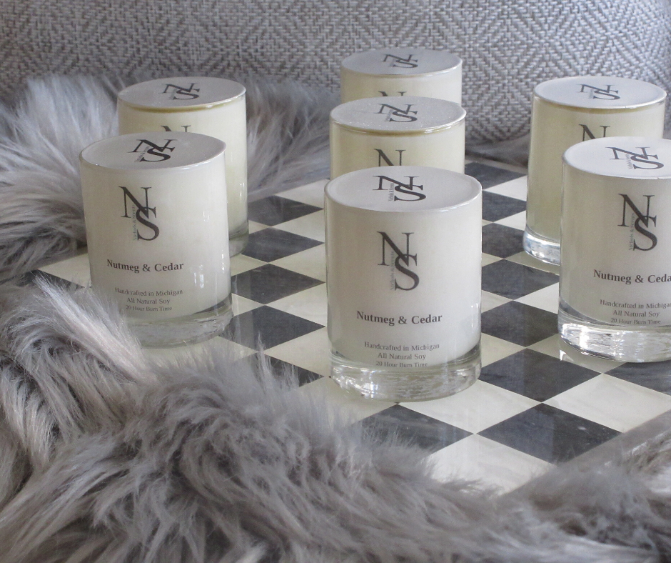 Nutmeg /& Cedar Scented Votive Candles 15 Hour Soy Candles Pick A Pack