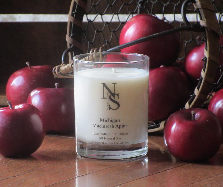 Michigan Macintosh Apple Candle
