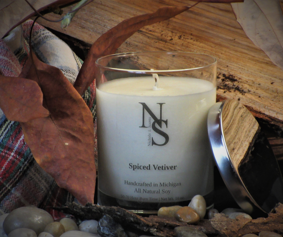 spiced vetiver candle